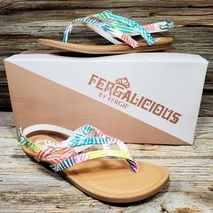 Fergalicious Snazzy Too Sandals Flip Flops Thongs